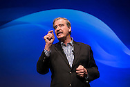 UST Global Conference, speaking Vicente Fox, former President of Mexico