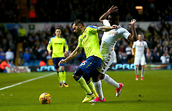 Bradley Johnson of Derby County takes on Hadi Sacko of Leeds United - Mandatory by-line: Robbie Stephenson/JMP - 31/10/2017 - FOOTBALL - Elland Road - Leeds, England - Leeds United v Derby County - Sky Bet Championship