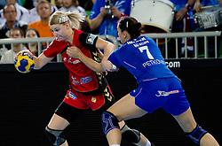 Tamara Mavsar of Krim  during handball match between RK Krim Mercator (SLO) and RK Podravka Vegeta (CRO) in Women's EHF Champions League, on November 13, 2010 in Arena Stozice, Ljubljana, Slovenia. (Photo By Vid Ponikvar / Sportida.com)