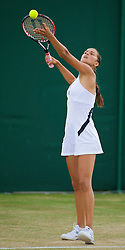 LONDON, ENGLAND - Monday, June 29, 2009: Chantal Skamlova (SVK) during the Girls' Singles 1st Round match on day seven of the Wimbledon Lawn Tennis Championships at the All England Lawn Tennis and Croquet Club. (Pic by David Rawcliffe/Propaganda)