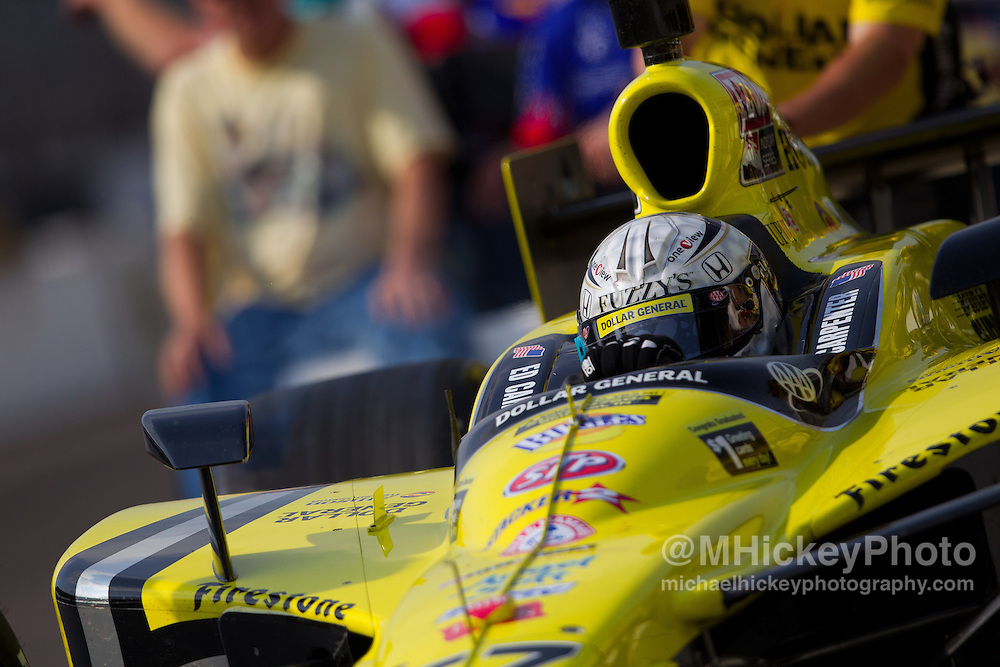 Photos of Ed Carpenter of Dollar General and Fuzzy's Ultra Premium Vodka Sarah Fisher Racing during practice and qualifications for the Indy 500..Photo by Infiniti Images