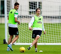 02/07/15<br /> CELTIC TRAINING<br /> LENNOXTOWN<br /> Stefan Johansen and Nir Biton begin pre-season training with Celtic.