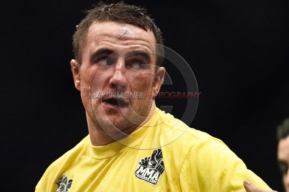"NEWCASTLE, ENGLAND, UNITED KINGDOM, JANUARY 19 2008: Paul Taylor is pictured after his fight at ""UFC 80: Rapid Fire"" inside the Metro Radio Arena in Newcastle, England on January 19, 2008."