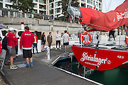 Steinlager 2 crew and supporters. ANZ Sail Fiji Race start. 7/5/2014