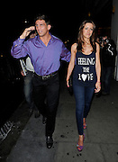 01.JUNE.2011. LONDON<br /> <br /> ALEX REID AND NICOLA T LEAVING NOBU RESTAURANT, BERKLEY STREET.<br /> <br /> BYLINE: EDBIMAGEARCHIVE.COM<br /> <br /> *THIS IMAGE IS STRICTLY FOR UK NEWSPAPERS AND MAGAZINES ONLY*<br /> *FOR WORLD WIDE SALES AND WEB USE PLEASE CONTACT EDBIMAGEARCHIVE - 0208 954 5968*