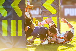 Bath Inside Centre (#12) Matt Banahan scores a try during the second half of the match - Photo mandatory by-line: Rogan Thomson/JMP - Tel: Mobile: 07966 386802 09/11/2012 - SPORT - RUGBY - The Recreation Ground - Bath. Bath v Newport Gwent Dragons  - LV= Cup