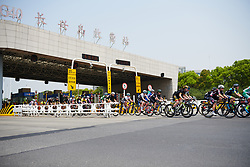 Through the toll booth onto the bridge at Tour of Chongming Island 2018 - Stage 2, a 121.3km road race from Changxing Fenghuang Park to Chongming Island on April 27, 2018. Photo by Sean Robinson/Velofocus.com