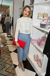 TESS WARD at the launch of Daisy & Jan de Villeneuve's new book 'All in Good Taste' held at Kate Spade New York, 1-3 Langley Court, Covent Garden, London on 2nd November 2015.