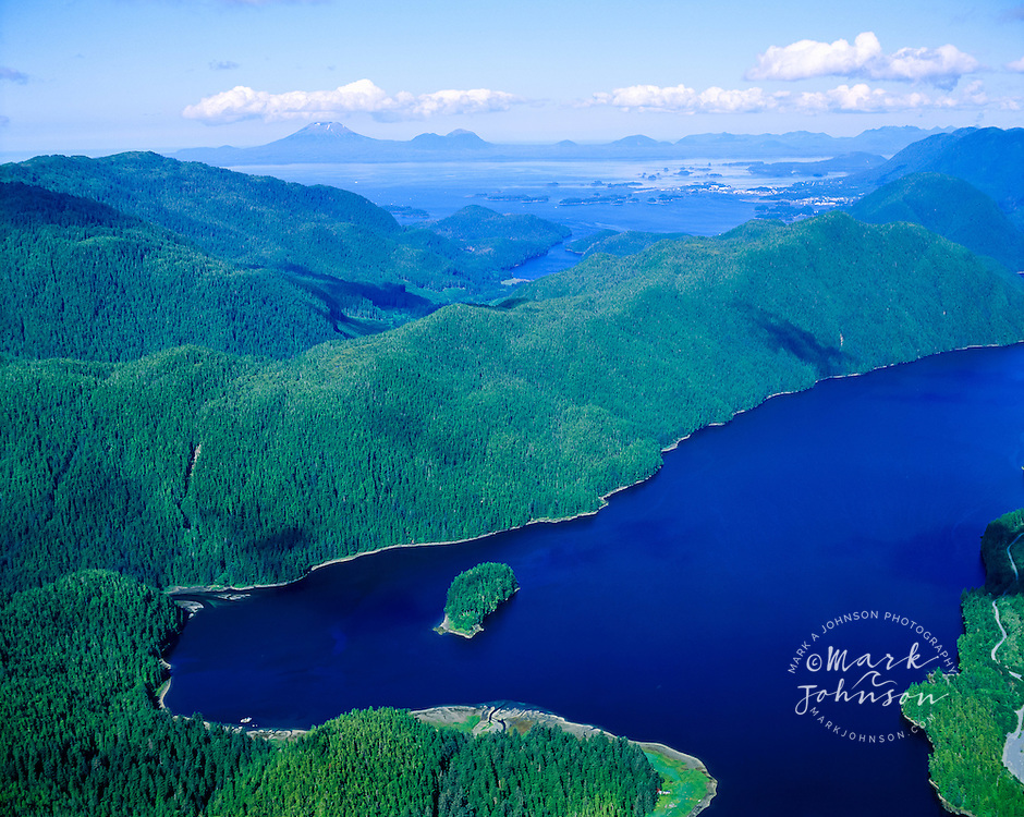 Aerial View of Sitka Sound and Mountains