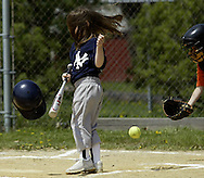 Annie's Little League game. May 1, 2004.