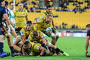 Brad Shields (captain) during the super rugby union  game between Hurricanes  and Highlanders, played at Westpac Stadium, Wellington, New Zealand on 24 March 2018.  Hurricanes won 29-12.