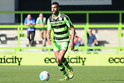 Forest Green Rovers defender Curtis Tilt (2) on the attack 0-1 during the Vanarama National League match between Forest Green Rovers and North Ferriby United at the New Lawn, Forest Green, United Kingdom on 1 April 2017. Photo by Alan Franklin.