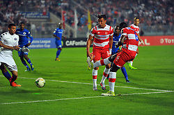 October 22, 2017 - Rades, Tunisia - Opoku Nicholas (6)of CA  in action during the Semi-final return of the CAF Cup between Club Africain (CA) and Supersport United FC of South Africa at the stadium of Rades  in Tunis..Club Africain lost (1-3) against the South African Super Sport Utd who will face TP Mazembe in the final. (Credit Image: © Chokri Mahjoub via ZUMA Wire)