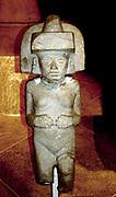 Stone sculpture of Huaxtec female deity.  900-1400 AD, Mexico. Pre-Columbian Mesoamerican Mythology