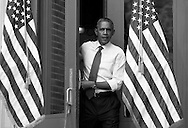 U.S. President Barack Obama walks out to take the stage for a campaign rally in Nashua, New Hampshire, October 27, 2012.
