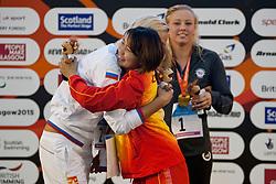 LONG Jessica, VLADYKINA Olesia, LU Weiyuan USA, CHN, RUS at 2015 IPC Swimming World Championships -  Women's 200m Individual Medley SM8