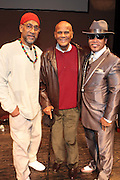 "October 20, 2012-New York, NY: (L-R) Hip Hop Living Legend DJ Kool Herc, Co-Founder of Hip Hop Culture, Actor/Social Activist Harry Belafonte and Recording Artist & Hip Hip Living Legend Grandmaster Melle Mel at From Beat Street to These Streets: Hip Hop Then and Now panel discussion and special screening of "" Beat Street"" co-hosted by the Schomburg Center, the Tribeca Youth Screening Series & Belafonte Enterprises and held at The Schomburg Center on October 20, 2012 in Harlem, New York City  (Terrence Jennings)"