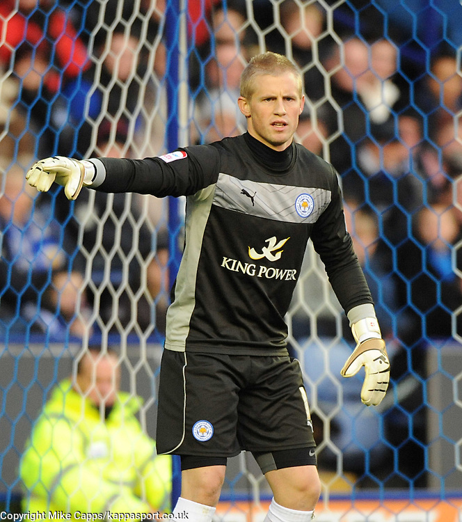 KASPER SCHMEICHEL, GOALKEEPER, LEICESTER CITY, Leicester City v Huddersfield Town, NPOWER Championship,  King Power Stadium, Leicester, Tuesday 1st January 2013