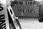Pilton Palais sign, Glastonbury, Somerset, 1989