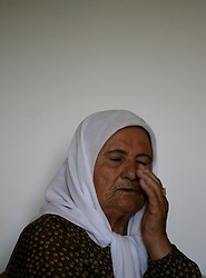 SifSufa - May 5th,  2008 - Portraits of Zuhaya Farhouf Hlehel 80 at her home in Jish, Northern Israel , she used live in the  village of Safsaf, Sifsufa, Northern Israel 10KM from the Lebanese border, May 5th, 2008. Picture by Andrew Parsons / i-Images