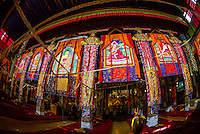 Assembly hall, Sera Monastery, near Lhasa, TIbet (Xizang), China.