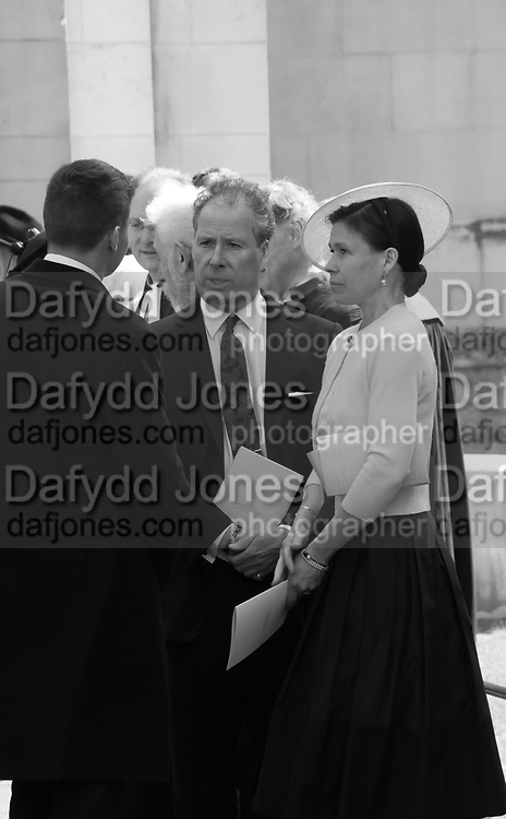 DAVID LINLEY, THE EARL OF SNOWDON; LADY SARAH CHATTO, Service of thanksgiving for  Lord Snowdon, St. Margaret's Westminster. London. 7 April 2017