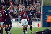 Photo: Kevin Poolman.<br />Northampton Town v Nottingham Forest. Coca Cola League 1. 12/08/2006. Northampton captain Scott McGleish is sent off.