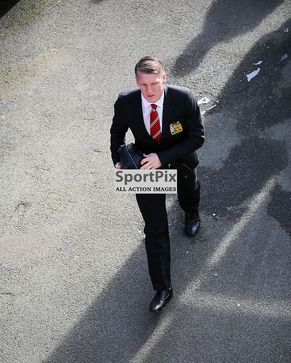 Bastian Schweinsteiger arrives at  Crystal Palace vs Manchester United on Saturday the 31st October 2015.