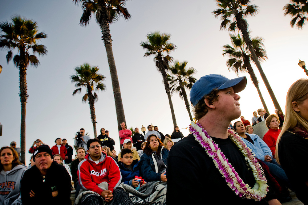 Interfaith blessing of the waves in Huntington Beach, California...Photographer: Chris Maluszynski /MOMENT