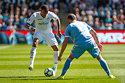 Leroy Fer of Swansea City and Erik Pieters of Stoke City during the Premier League match between Swansea City and Stoke City at the Liberty Stadium, Swansea, Wales on 22 April 2017. Photo by Andrew Lewis.