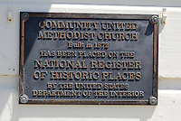 Community United Methodist Church, Half Moon Bay, California, USA, built, 1872, National Register of Historic Places, US Department of the Interior, 201305012296<br /> <br /> Copyright Image from Victor Patterson, 54 Dorchester Park, Belfast, UK, BT9 6RJ<br /> <br /> Tel: +44 28 9066 1296<br /> Mob: +44 7802 353836<br /> Voicemail +44 20 8816 7153<br /> Skype: victorpattersonbelfast<br /> Email: victorpatterson@me.com<br /> Email: victorpatterson@ireland.com (back-up)<br /> <br /> IMPORTANT: If you wish to use this image or any other of my images please go to www.victorpatterson.com and click on the Terms & Conditions. Then contact me by email or phone with the reference number(s) of the image(s) concerned.