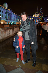 CHRISTOPHER KANE and his niece BONNIE KANE-WATTS at Skate At Somerset House with Fortnum & Mason on 16th November 2016.