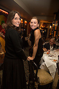 TANIA FARES; JO MANOUKIAN, Dinner in aid of the China Tiger Revival hosted by Sir David Tang and Stephen Fry  at China Tang, Park Lane, London. 1 October 2013. ,