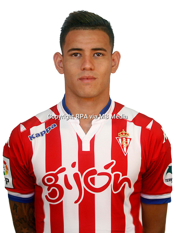 Spain - Liga BBVA 2015-2016 / <br /> ( Real Sporting de Gijon ) - <br /> Arnaldo Antonio Sanabria Ayala