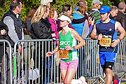 Sarah Perkin (4426) supporting the NSPCC during the The Great South Run in Southsea, Portsmouth, United Kingdom on 23 October 2016. Photo by Jon Bromley.