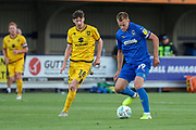 AFC Wimbledon striker Joe Pigott (39) dribbling during the EFL Cup match between AFC Wimbledon and Milton Keynes Dons at the Cherry Red Records Stadium, Kingston, England on 13 August 2019.