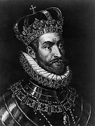 Charles V (1500-1558) Charles I of Spain 1519-1556, Holy Roman Empire 1519-1558. Portrait engraving showing him wearing crown and the Order of the Golden Fleece.