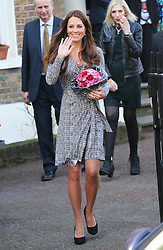The Duchess of Cambridge leaving Hope House in London, Tuesday, 19th February 2013  Photo by: Stephen Lock / i-Images