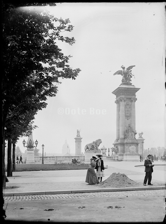 at Pont Alexandre III around the time of the Exposition Universelle de Paris 1900 France