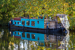 Mail Online: The barge Sunshine which started out as an empty shell and is now a small but comfortable home currently moored on the Lea Navigation in East London. North Hackney, London, November 02 2018.