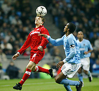 Fotball, 30. november 2003, Premier League, Manchester City - Middlesbrough 0-1,  Juninho, Middlesbrough, og Sylvain Distin, Manchester city