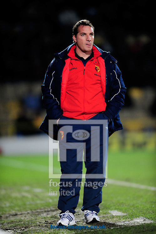 London - Tuesday, January 27th, 2009: Bremdon Rogers, manager  of Watford during the Coca Cola Championship match at Vicarage Road, London. (Pic by Daniel Hambury/Focus Images)