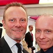 NLD/Amsterdam/20110618 - Amsterdamdiner 2011, Mart Visser en partner Job van Dooren
