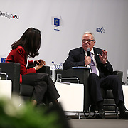 04 June 2015 - Belgium - Brussels - European Development Days - EDD - Closing Panel - From development aid to international Cooperation - Zeinab Badawi , Journalist , BBC - Neven Mimica , EU Commissioner for International Cooperation and Development © European Union