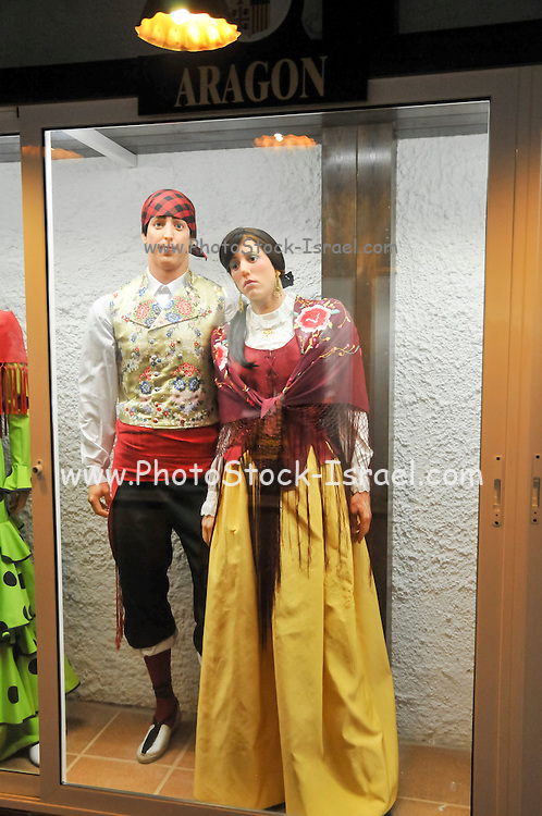 Display of traditional Spanish clothes from Aragon