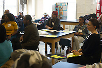 """Race and Green Space in Chicago: Their Legacy and Future"" was this year's topic at the 6th Annual Diversity Symposium hosted by The Ancona School located at 4770 S. Dorchester. Educators, parents, school leadership and community members came together Saturday afternoon, March 10th, 2018 to take part in discussions that addressed the following questions:<br /> 1.	How have historical biases shaped Chicago's green spaces and our communities?<br /> 2.	What are local organizations doing to make recreation and nature more accessible?<br /> 3.	How is green space being used to foster social change?<br /> <br /> 5734 – Theodore and Arianne Richards of the Chicago Wisdom Project and others participate in a discussion on maintaining green spaces in the face of development and gentrification.<br /> <br /> Please 'Like' ""Spencer Bibbs Photography"" on Facebook.<br /> <br /> Please leave a review for Spencer Bibbs Photography on Yelp.<br /> <br /> Please check me out on Twitter under Spencer Bibbs Photography.<br /> <br /> All rights to this photo are owned by Spencer Bibbs of Spencer Bibbs Photography and may only be used in any way shape or form, whole or in part with written permission by the owner of the photo, Spencer Bibbs.<br /> <br /> For all of your photography needs, please contact Spencer Bibbs at 773-895-4744. I can also be reached in the following ways:<br /> <br /> Website – www.spbdigitalconcepts.photoshelter.com<br /> <br /> Text - Text ""Spencer Bibbs"" to 72727<br /> <br /> Email – spencerbibbsphotography@yahoo.com"