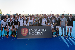 Surrey v Gloucestershire & Herefordshire - Men's O60s T1 Final, Lee Valley Hockey & Tennis Centre, London, UK on 06 May 2018. Photo: Simon Parker