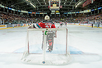 KELOWNA, CANADA - NOVEMBER 18: Brodan Salmond #31 of the Kelowna Rockets stands in net during second period against the Vancouver Giants on November 18, 2016 at Prospera Place in Kelowna, British Columbia, Canada.  (Photo by Marissa Baecker/Shoot the Breeze)  *** Local Caption ***