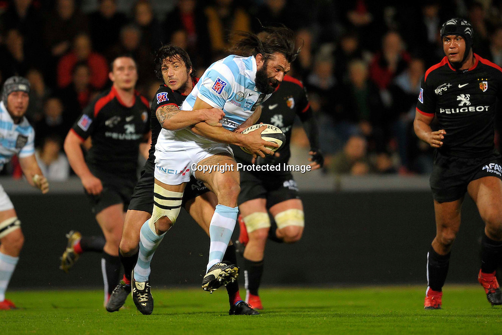 Rugby: Toulouse / Racing Metro 92 - 02.04.2010 - Top 14 - duel Chabal / Kelleher