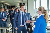 AMSTERDAM - 28-09-2016, Zenit - AZ, vertrek Schiphol,